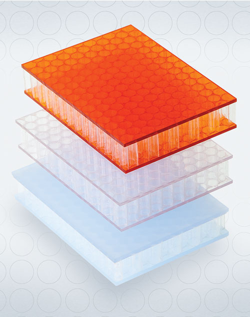 AIR-board honeycomb polycarbonate panels