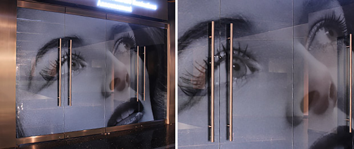 High Resolution Graphics in Glass Surface Products