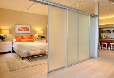 room divider transparent wall loft
