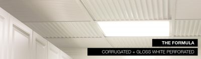 performated ceiling tile corrugated acoustic
