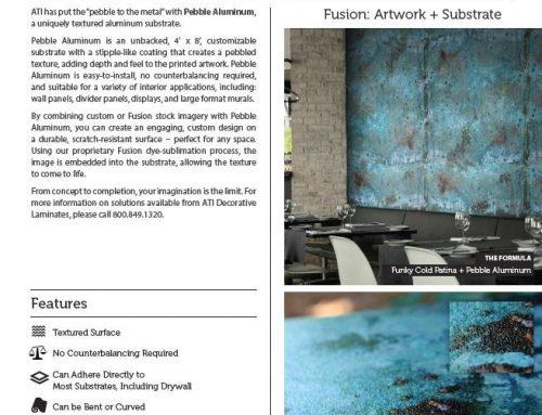 Hot off the Press! – New ATI Artful Metals/Pebble Aluminum Sales Sheet