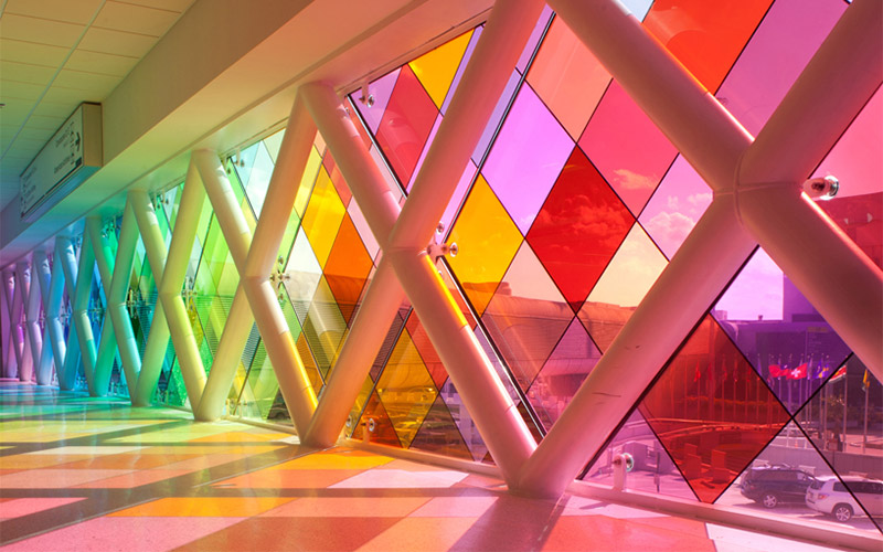 GlasPro Installation in the Miami International Airport - 'Harmonic Convergence' by Christopher Janney surface products