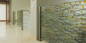 ATI natural laminates with organic materials pressed into glass