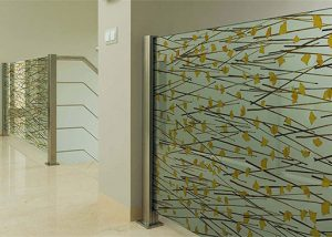 ATI natural laminates with organic materials pressed into glass