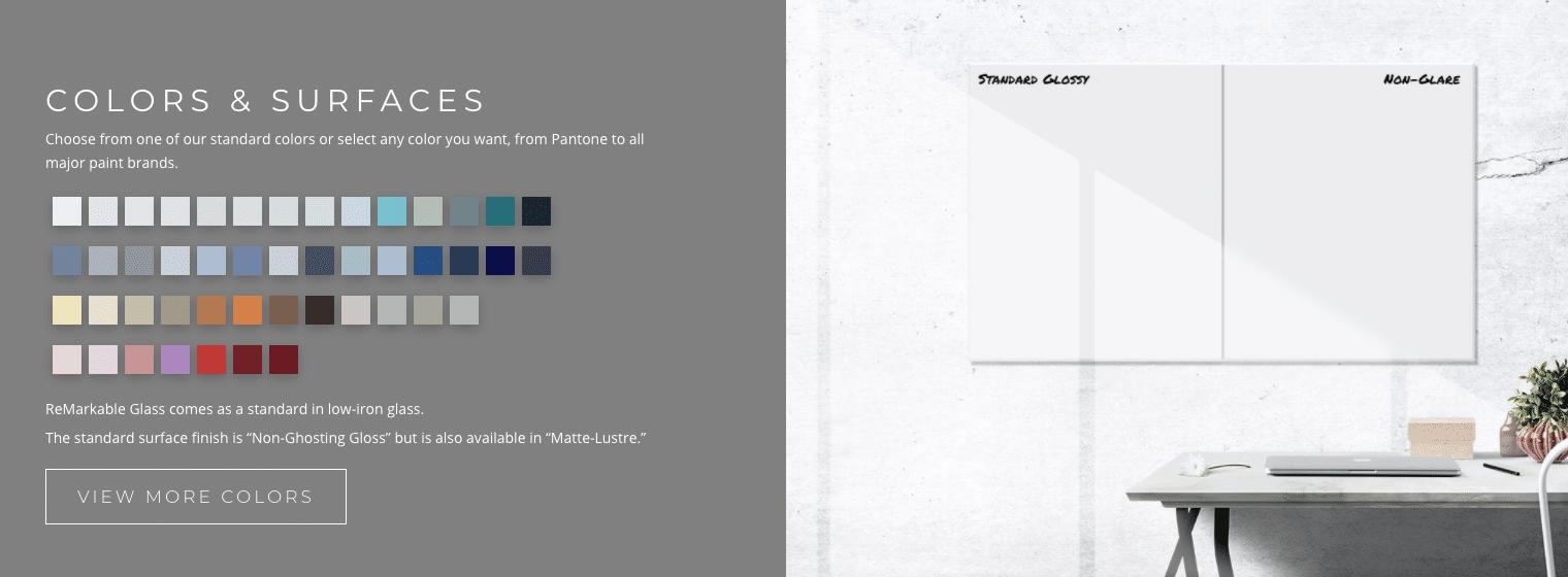 colours surfaces remarkable glass