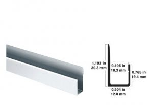 surface products magnetic glass j channel system