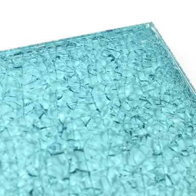 surface products patterned glass shatter glass blue