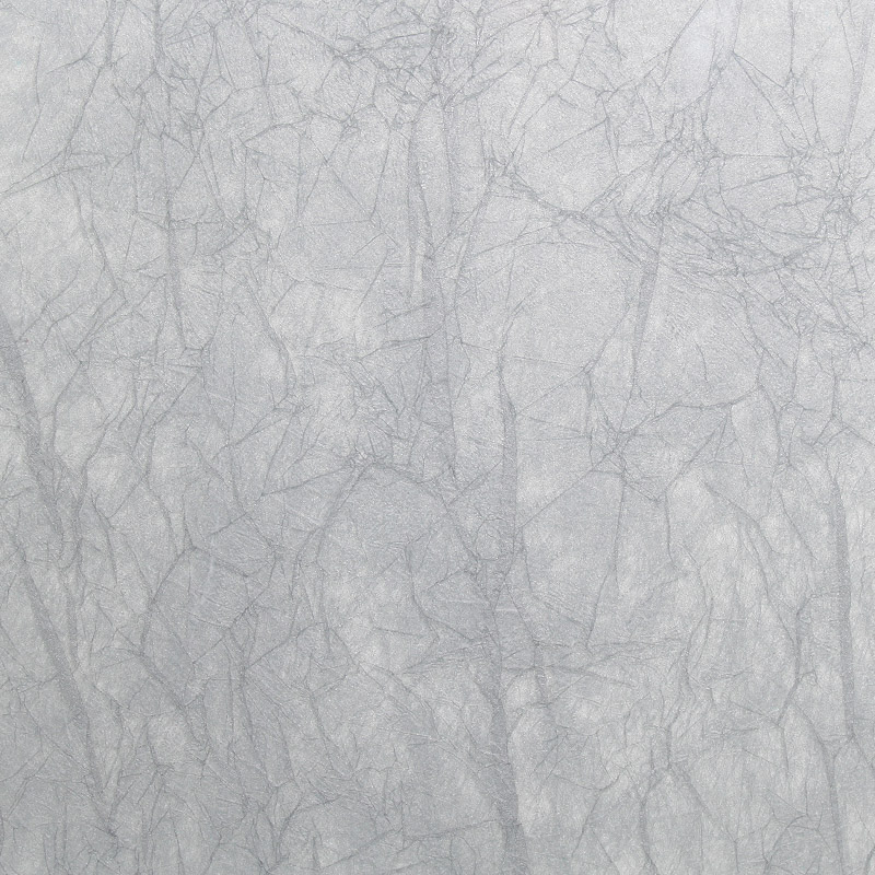 surface products fabrics in glass Crackle Silver