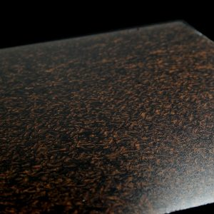 surface products fabrics in glass Crunched Bronze