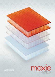 moxie surfaces air board brochure cover