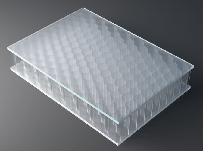 surface products AIR board UV PMMA satin clear opt