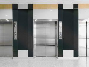 surface products ATI NuMetal 1014 NEP Neptune Polished Smoke Elevator Lobby
