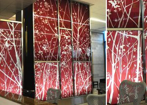 surface products Laminated HD Graphics in Glass​ Anderson Center 1