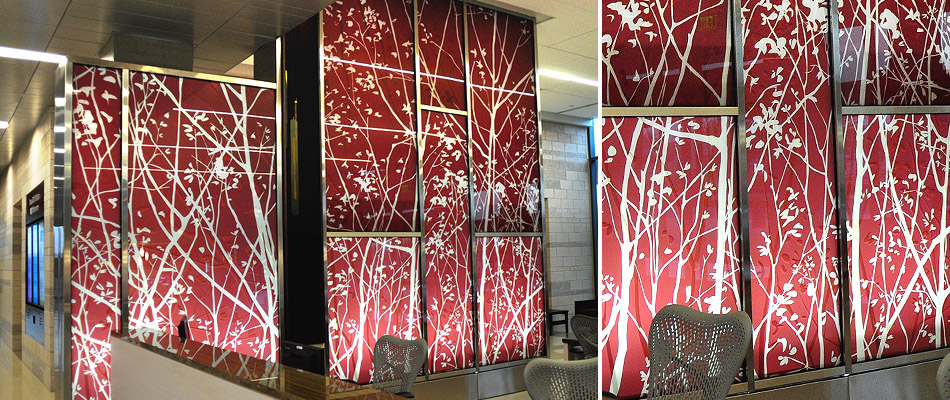 surface products Laminated HD Graphics in Glass Anderson Center 1