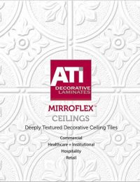 surface products MirroFlex textured laminates catalog ceilings