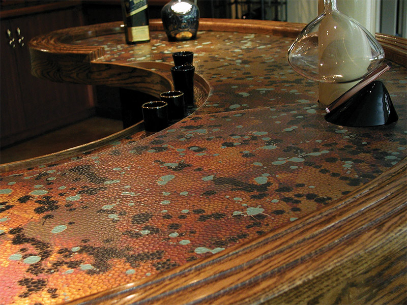 surface products NuMetal Bartop Unique Art Patina Malchit C414