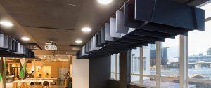 autex acoustics Quietspace lattice Trapezium Banner 1