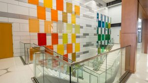 surface products glaspro michigan state university laminated colored glass 2