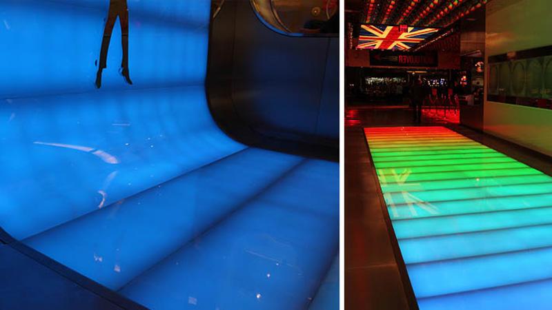 Blue Translucent laminate floor beatles love 2