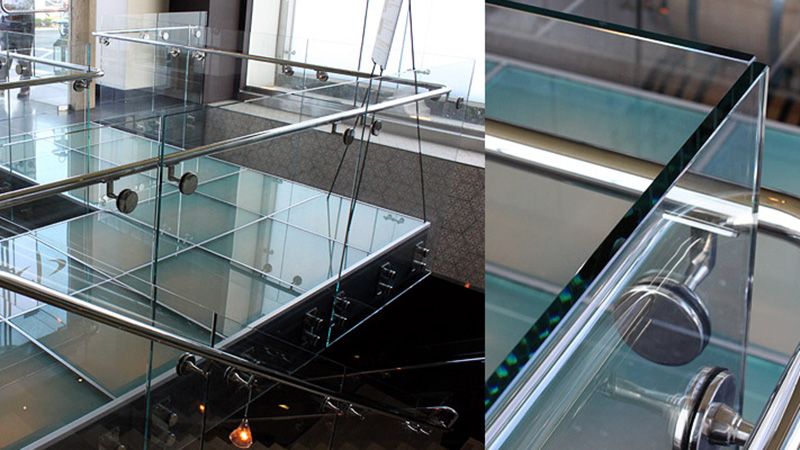 Laminated glass floorcharlie palmer restaurant 4