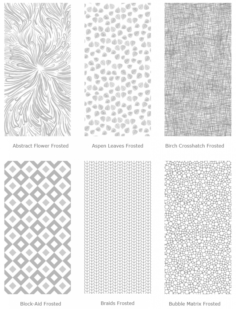 modern designs for frosted panels from ATI laminates